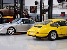 Tork industrial cleaning cloths keeping Porsche workshop immaculate