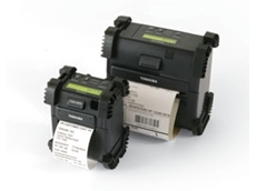 B-EP2DL (L) and B-EP4DL (R) portable label printers