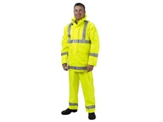 Wet weather high visibility workwear