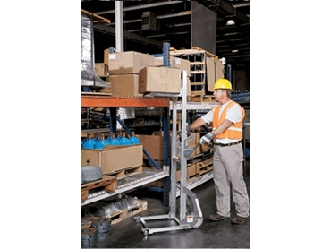 Lift heavy materials to and from shelves