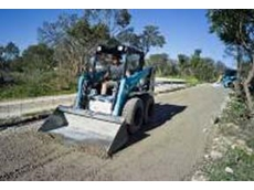 Doogs Dvorak of A Class Earthmoving operates one of his three Toyota Huski 5SDK-8 skid-steer loaders