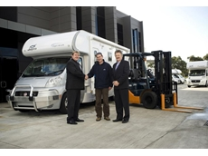 Australian recreational vehicle manufacturer Jayco takes delivery of three Toyota BT reach truck forklifts