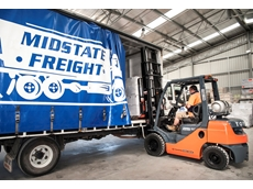 Toyota forklifts provide benefits in service and workplace health and safety compliance, allowing Midstate Freight to focus on their core business