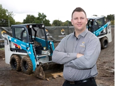 Construction Training Group director Darren Heyne with the company's two Toyota 5SDK5 skid steer loaders
