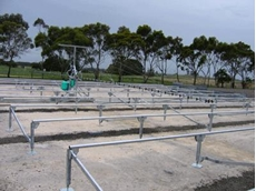 Portable Post and Rail Bench Systems available from Transplant Systems