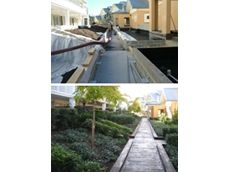 Above: Hunter's Wharf Project before; Below: Hunter's Wharf Project, after with help from Tremco waterproofing products