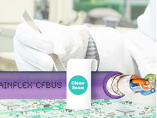 The new chainflex cables CFBUS.LB.045 (CAT5e) and CFBUS.LB.049 (CAT6) with cleanroom approval withstand over 24 million strokes.