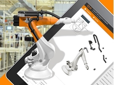 igus' robot equipment configurator enables users to quickly find the right system based on the triflex R energy chain
