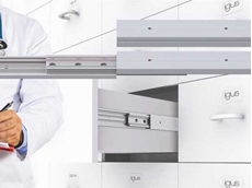 Lubrication-free igus telescopic guides for hygienic pull-out drawers
