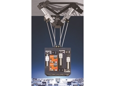 The new delta robot can be delivered as a preassembled construction kit, or as a ready-to-install system in a transport frame.
