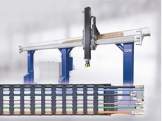 Safety at high speed with igus e-chain in linear motor robots