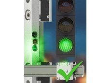 Based on the traffic light principle, the technician is informed about the maintenance requirement