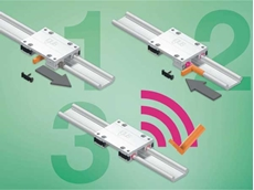 The new smart plastics linear system measures the wear of the bearings in operation and gives an early warning