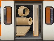 Wear-resistant igus iglidur RW370 bar stock for railway vehicles