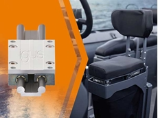 Corrosion-free and maintenance-free drylin W linear guide dampens shocks and improves passenger safety on board.