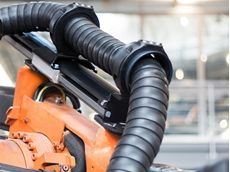 The Triflex RS robotic cable carrier system from igus was designed with the less is more approach in mind