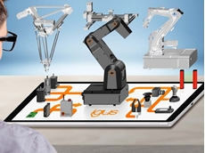 Presented at the Hannover Messe 2019, the basic framework of the igus 'rohbot' is a new, lighter and more precise robolink DC articulated arm made of plastic.