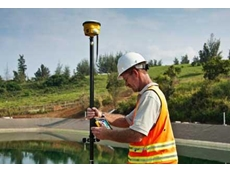 The new ultra-rugged Trimble SPS985 GNSS Smart Antenna conducts highly accurate construction site measurements