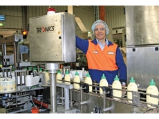 Goodman Fielder's executive at their Mascot site, Vince Spiteri with the upgraded Tronics labelling equipment