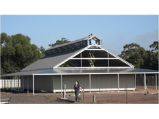 A new steel building has been erected as a sales area at a local nursery