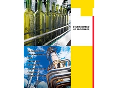 Distributed I/O brochure detailing Turck's in-cabinet and machine-mount I/O products