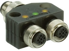 TURCK VB2 overmoulded splitter with LEDs