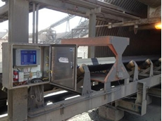 The on-conveyor Magnasat magnetic susceptibility meter was considered as a more economical solution for process control