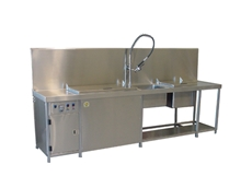The Ultrasonic Eco Cleaning Solutions diesel specialist workstation