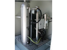 OS35 oily water separator with aeration module on a bund