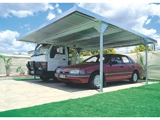 Steel carports available from Universal Sheds