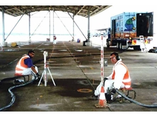Uretek technicians re-supporting slabs at the Williamtown RAAF Base