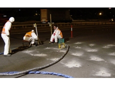 Uretek often carry out road levelling work at night to ensure minimal disruption to road activity