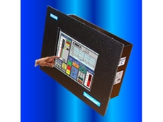 The 8 inch STN colour touch panel
