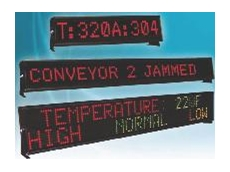 Wide range of visual displays available from EZAutomation