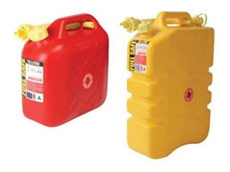 Heavy duty fuel safe jerry cans are suitable for the transportation of fuel and other flammable materials