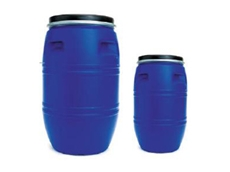 The plastic drums are manufactured in 35 and 120 litre capacities