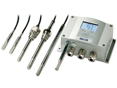 Humidity and temperature transmitters for harsh chemical environments