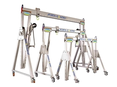 Aluminium portable gantry cranes available from Vector Lifting