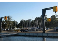 Jib cranes from Vector Lifting for yachting clubs