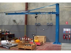 Over-braced jib crane