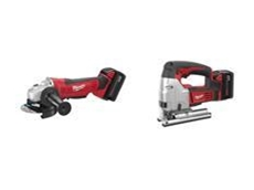 Milwaukee M18 cordless angle grinder and jigsaws