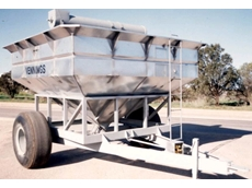Galvanised Chaser Bins for Harvesting Grain