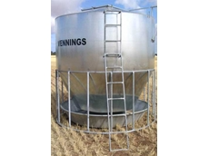 Fully Galvanised Cattle Feeder with Ground Operated Lid from Vennings