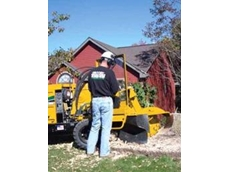 The Vermeer SC852 stump cutter