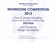 Vetmarker claims award at Hamilton Sheepvention 2013