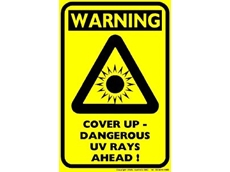 UV awareness safety sign.