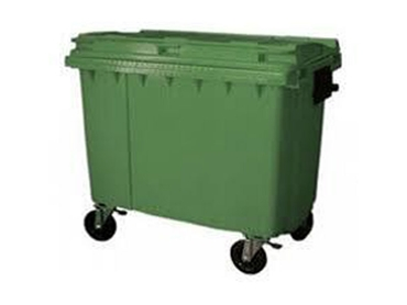 WJ Waste 660L Cardboard, Paper and General Waste Bins