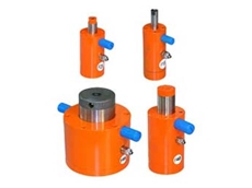 F Series external pneumatic piston vibrators produce linear vibrations