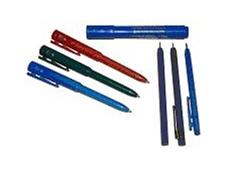 Metal detectable pens.