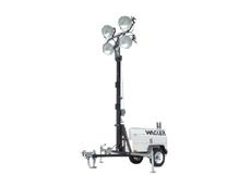 Heavy-duty, trailer-mounted light tower